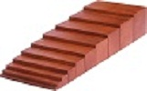 brown stairs Montessori